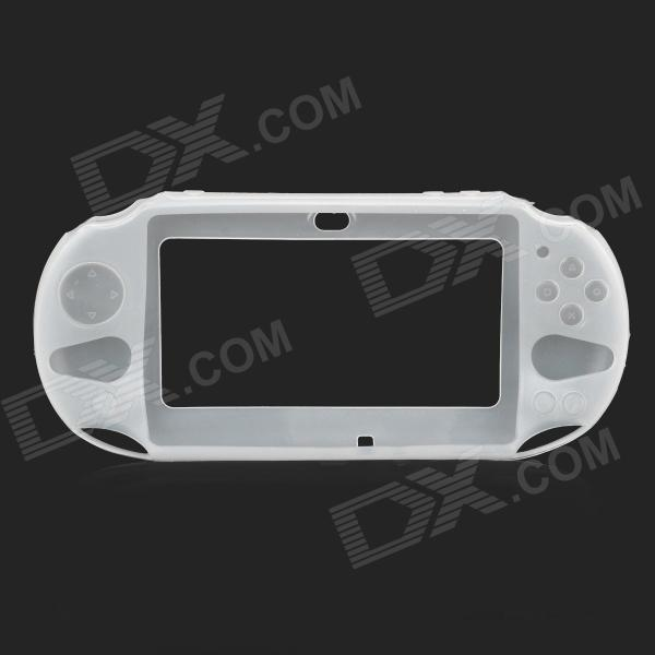 Protective Silicone Case for PS Vita 2000 - White skilhunt 3 7v 5500mah 26650 protected rechargeable battery for flashlight black silver
