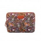 "Floral style Protective Soft Pouch Bag for 13"" / 13.3"" / 13.4"" Laptop Notebook - Brown"