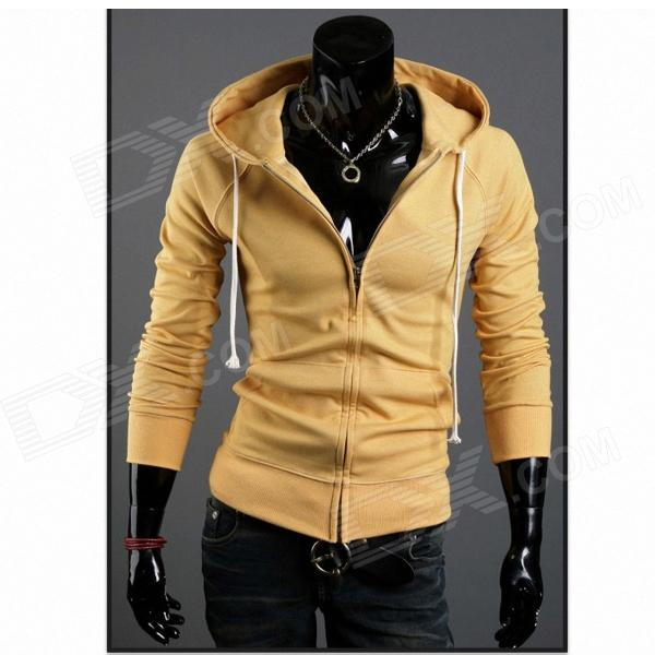 WY20 Fashionable Men's Slim Fit Jacket Coat - Yellow (Size-XL)