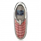 "X5 GSM Bluetooth V2.0 Bar Phone Compatible with Iphone and Ipad w/ 0.65"" FM - Pink + Silver"