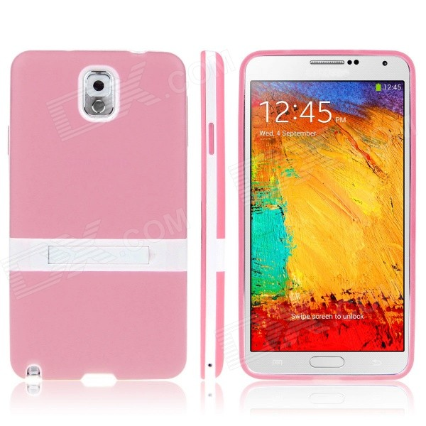 ENKAY Protective TPU Back Case w / Holder Stand for Samsung Galaxy Note 3 / N9000 - Pink enkay protective tpu back case w holder stand for samsung galaxy note 3 n9000 pink