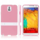 ENKAY Protective TPU Back Case w / Holder Stand for Samsung Galaxy Note 3 / N9000 - Pink