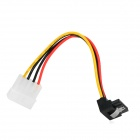 IDE 4-Pin Male to SATA Right Angle 15-Pin Female Power Cable (15cm)
