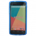 """S"" Style Protective TPU Back Case for Google Nexus 5 - Deep Blue"