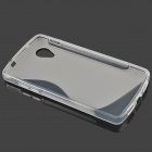 """S"" Style Protective TPU Back Case for Google Nexus 5 - Transparent"