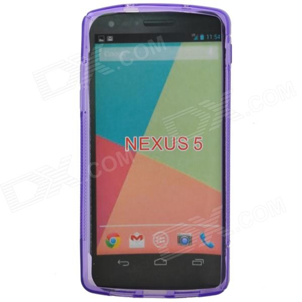 S Style Protective TPU Back Case for Google Nexus 5 - Purple - DXTPU Cases<br>Protects your Google nexus 5 from scratches dust shock and abrasion; Precise design allows to access to all the interfaces and controls easily; S style with anti-slip design<br>