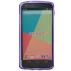 """S"" Style Protective TPU Back Case for Google Nexus 5 - Purple"