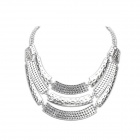 Big Street Snap Metal Personality Necklace - Silver