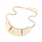 Fashionable Metallic Exaggerated Necklace - Golden