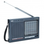 Tecsun R9700DX High Property 12-Band Stereo Dual Conversion Radio Receiver - Black