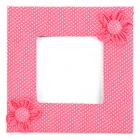 Flower Pattern White Dot Switch Dustproof Cover - Deep Pink