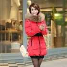 Women's Thicken Padded Jacket - Red (L)
