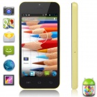 "XIAOCAI X800-B Dual-Core Android 4.2 WCDMA Bar Phone w/ 4.0"" IPS Screen, 4GB ROM - Black + Yellow"