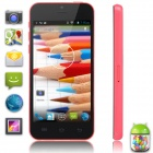 "XIAOCAI X800-B Dual-Core Android 4.2 WCDMA Bar Phone w/ 4.0"" IPS, 4GB ROM - Black + Deep Pink"
