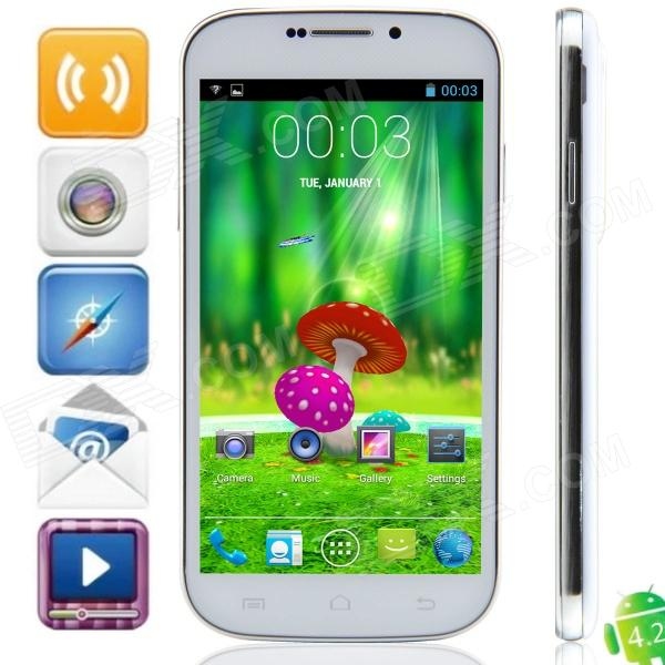 S20i MTK6572 Dual-core Android 4.2.2 WCDMA Bar Phone w/ 5.0, 4GB ROM, Wi-Fi, GPS - White ноутбук dell inspiron 3565 15 6 amd a6 9200 2ггц 4гб 500гб amd radeon r4 dvd rw linux черный [3565 7713]