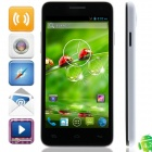 "W450 MTK6582 Quad-core Android 4.2.2 WCDMA Bar Phone w/ 4.5"", 1GB RAM, 4GB ROM, GPS - Black + White"