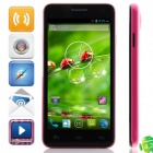 "W450 MTK6582 Quad-core Android 4.2.2 WCDMA Bar Phone w/ 4.5"", 4GB ROM, GPS - Black + Deep Pink"