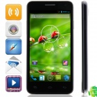 "W450 MTK6582 Quad-core Android 4.2.2 WCDMA Bar Phone w/ 4.5"", 1GB RAM, 4GB ROM, GPS - Black + Grey"
