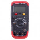UA6013L 5 x 3cm LCD Display Digital Capacitance Meter Multimeter - Dark Red + Black (1 x 6F22)