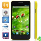 "W450 MTK6582 Quad-core Android 4.2.2 WCDMA Bar Phone w/ 4.5"", 1GB RAM, 4GB ROM, GPS - Black + Yellow"