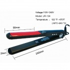 "LOOF JR-160 360 ROTATING 0.7"" Screen Titanium Board Hair Straightener - Black (110~240V / EU Plug)"