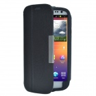 DiscoveryBuy Lichee Pattern PU Leather Case Cover Stand for Samsung Galaxy S3 i9300 - Black