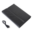 Bluetooth V3.0 76-Key Silicone Keyboard & PU Leather Case w/ Stand for Ipad AIR - Black