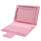 Wireless Bluetooth V3.0 77- Key Silicone Keyboard w/ PU Leather Case for Ipad MINI - Pink