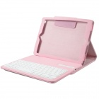 Detachable Wireless Bluetooth V3.0 64-Key  Keyboard w/ PU Leather Case for Ipad AIR - Pink