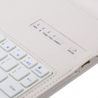 Desmontable V3.0 Bluetooth Wireless 64-Key Keyboard w / caja de cuero para el nuevo Ipad AIR - Blanco