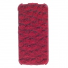 SAYOO 2235 Ostrich Striation PU Leather Mobile Phone Protective Case for Iphone 5 / 5S - Red