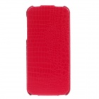 SAYOO 2406 Crocodile Pattern Vertical Open Protective PU Leather Case Cover for Iphone 5 / 5s - Red