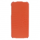 SAYOO 2406 Crocodile Pattern Vertical Open Protective PU Leather Case for Iphone 5 / 5s - Orange