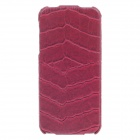 SAYOO 2224 Crocodile Striation Vertical Open Protective PU Leather Back Case for iPhone 5 - Red