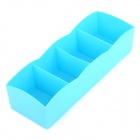 Convenient Plastic Storage Organizer Box - Blue