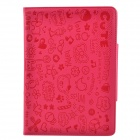 Cute Faerie Pattern Protective PU Leather Case Cover Stand for Ipad AIR - Deep Pink