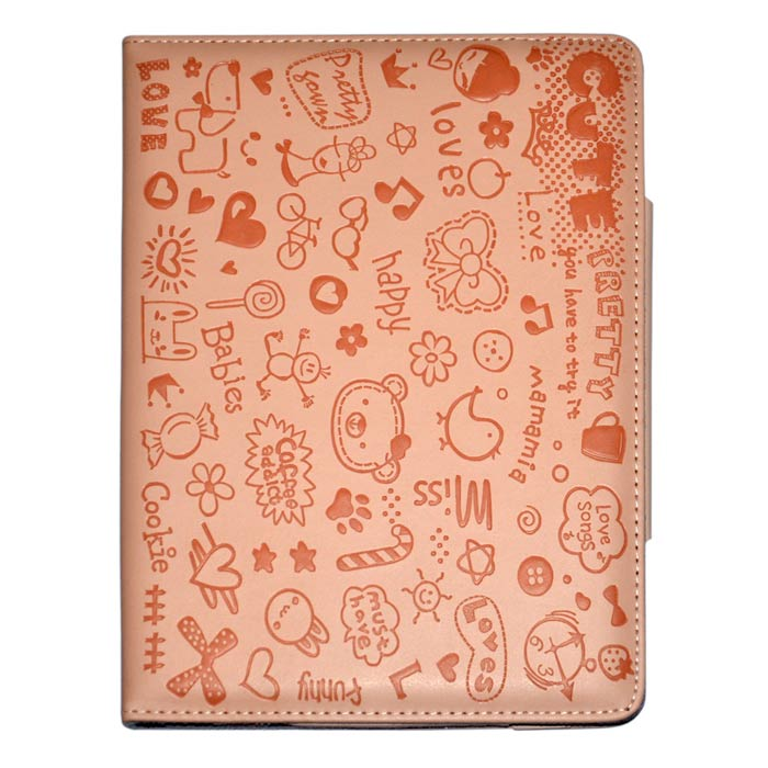 Cute Faerie Pattern Protective PU Leather Case Cover Stand for Ipad AIR - Pink cute faerie pattern protective pu leather case cover stand for ipad air blue