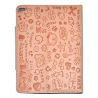 Cute Faerie Pattern Protective PU Leather Case Cover Stand for Ipad AIR - Pink