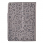 Cute Faerie Pattern Protective PU Leather Case Cover Stand for Ipad AIR - Light Purple