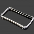 Crystal Studded Protective Aluminum Alloy Bumper Frame for Iphone 5C - White