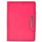 Protective PU Leather + TPU Case Cover Stand w/ Magnetic Closure for Ipad AIR - Deep Pink