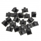 NYLON 66 Universal Adhesive Cable / Wire Fastener - Black (20 PCS)
