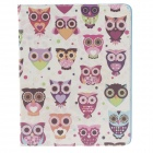 Stylish Owl Pattern Protective PU Leather Case Cover Stand for Ipad 2 / 3 / 4 - Multicolored