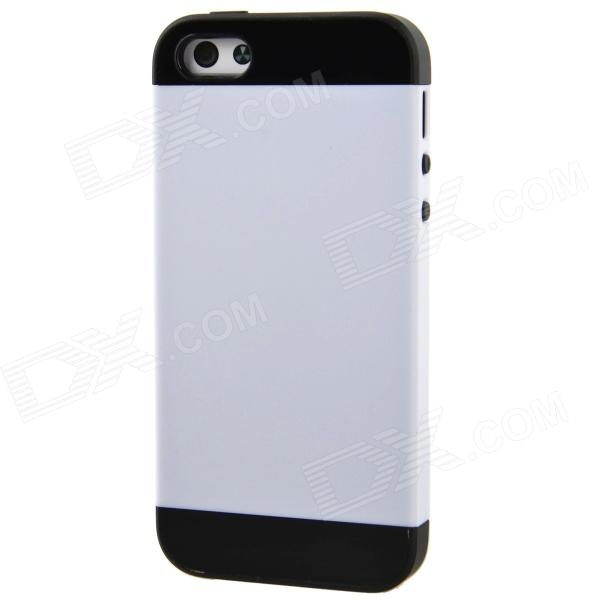 NX CASE Fashionable Protective PC + TPU Case for iPhone 5 / 5s - White + Black