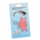 RX-01 2-in-1 ABS Holder Stand + Cable Winder for Iphone 5 / 5c / 5s / Ipod Touch - Pink