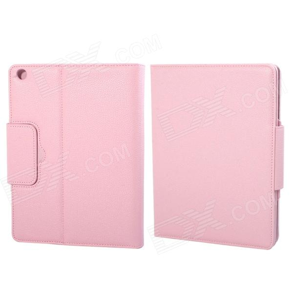 Wireless Bluetooth V3.0 64-Key Keyboard + Protective PU Leather Case Cover for Ipad 5 - Pink