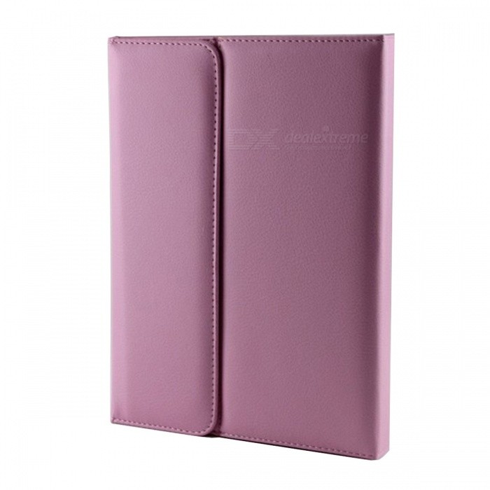 Wireless Bluetooth V2.0 76-Key Keyboard w/ PU Leather Case Cover Stand for Ipad AIR - Purple