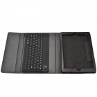 Wireless Bluetooth V2.0 76-Key Keyboard w/ PU Leather Case Cover Stand for Ipad AIR - Black