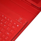 Wireless Bluetooth V2.0 76-Key Keyboard w/ PU Leather Case Cover Stand for Ipad AIR - Red