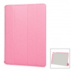 S-116 Stylish Flip Open Protective PU Leather Case Cover Stand for Ipad AIR - Deep Pink